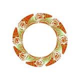 teste padrão gráfico circular Imagem de Stock Royalty Free