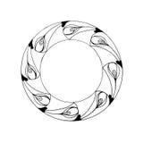teste padrão gráfico circular Fotos de Stock