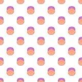 Teste padrão grávido da barriga, estilo dos desenhos animados Fotos de Stock