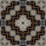 Teste padrão gravado sem emenda 014 do trabajo em metal Imagem de Stock Royalty Free