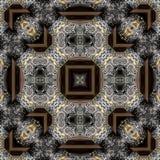 Teste padrão gravado sem emenda 012 do trabajo em metal Imagens de Stock Royalty Free
