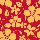 Teste padrão havaiano sem emenda de Hula Fotografia de Stock Royalty Free
