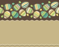 Teste padrão horizontal sem emenda de easter com ovos Imagens de Stock Royalty Free