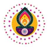 Teste padrão indiano colorido Imagem de Stock