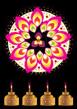 Teste padrão indiano colorido Fotos de Stock Royalty Free