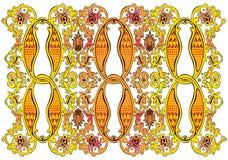 Teste padrão indiano detalhado fino Imagens de Stock Royalty Free