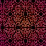 Teste padrão indiano sem emenda no colore vermelho e preto Ilustração Stock