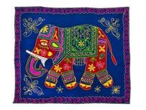 Teste padrão indiano tradicional do bordado Elefante imagem de stock royalty free