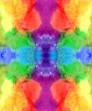 Teste padrão infinito do fundo das cores do arco-íris da aquarela: violeta roxa azul verde amarela alaranjada vermelha ilustração royalty free