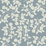 Teste padrão infinito elegante com rosas do marfim ilustração royalty free
