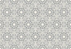 Teste padrão islâmico geométrico sem emenda abstrato do papel de parede ilustração stock