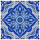 Teste padrão italiano do azulejo Ornamento popular étnico ilustração royalty free