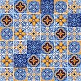 Teste padrão italiano do azulejo Ornamento popular étnico ilustração do vetor