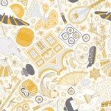 Teste padrão japonês ilustração royalty free