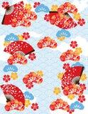 Teste padrão japonês da lagoa Fotografia de Stock Royalty Free