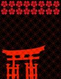 Teste padrão japonês do torii Imagem de Stock