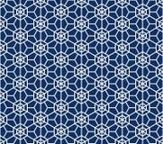 Teste padrão japonês sem emenda Kumiko For Shoji Screens na cor azul ilustração stock