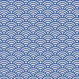 Teste padrão japonês tradicional de Seigaiha dos povos - fundo sem emenda do vetor Fotos de Stock