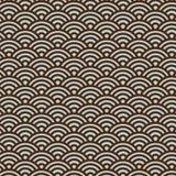 Teste padrão japonês tradicional de Seigaiha dos povos - fundo sem emenda do vetor Foto de Stock