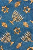 Teste padrão judaico retro de matéria têxtil da tapeçaria da sinagoga Imagem de Stock