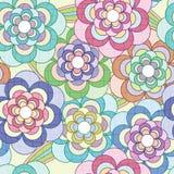 Teste padrão líquido das flores Imagem de Stock