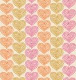 Teste padrão laçado com fundo decorativo dos corações ilustração stock