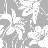 Teste padrão lilly sem emenda do vetor Fotos de Stock