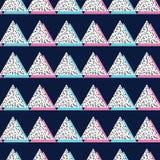 Teste padrão linear abstrato do vetor do triângulo, no estilo de memphis, teste padrão sem emenda ilustração stock
