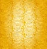 Teste padrão linear abstrato ensolarado. Projeto da garatuja. Fundo sem emenda amarelo da rede ilustração royalty free