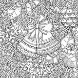 Teste padrão linear do Natal Imagem de Stock Royalty Free