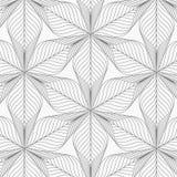 Teste padrão linear do vetor que repetem a flor linear abstrata ou flora que circunda na forma do hexágono Fotografia de Stock