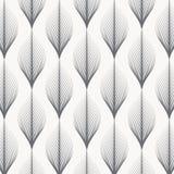 Teste padrão linear do vetor, repetindo as folhas abstratas lineares na festão Fotos de Stock Royalty Free