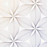 Teste padrão linear do vetor, repetindo as folhas abstratas, linha cinzenta de folha ou flor, floral gráfico limpe o projeto para ilustração do vetor