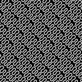 Teste padrão linear sem emenda com linhas brancas curvadas elegantes finas no fundo preto Textura abstrata Fundo geométrico ilustração royalty free