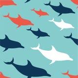 Teste padrão liso do golfinho do projeto Imagens de Stock Royalty Free