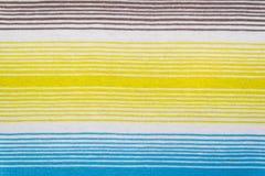 Teste padrão listrado da tela em cores pastel macias Fundo textured sumário Fotografia de Stock Royalty Free