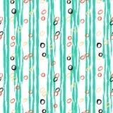 Teste padrão listrado do vintage com linhas escovadas Foto de Stock Royalty Free