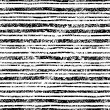 Teste padrão listrado do vintage Linhas pretas no fundo branco grungy ilustração stock