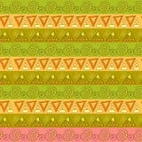 Teste padrão listrado geométrico tribal Ilustração do Vetor