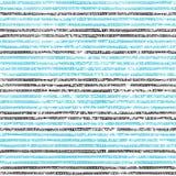 Teste padrão listrado sem emenda Cores azuis, preto e branco Grunge t Imagens de Stock