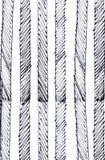 Teste padrão listrado tirado mão Ilustração Textured Fotografia de Stock