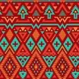 Teste padrão listrado tribal sem emenda do vetor ilustração royalty free