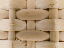 Teste padrão macro - cesta de bambu Foto de Stock