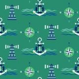 Teste padrão marítimo sem emenda ilustração royalty free