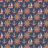 Teste padrão marinho Foto de Stock Royalty Free