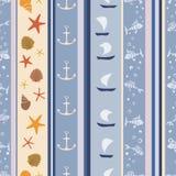 Teste padrão marinho azul Fotografia de Stock Royalty Free