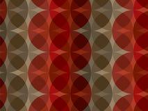 Teste padrão marrom vermelho retro do círculo Foto de Stock Royalty Free