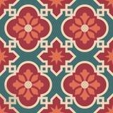 Teste padrão marroquino cerâmico da telha de mosaico com flor ilustração stock