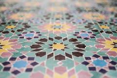 Teste padrão marroquino do zellige Fotografia de Stock