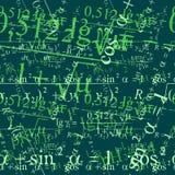 Teste padrão matemático sem emenda ilustração stock
